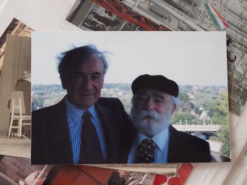 Moshe Kraus with Elie Weisel
