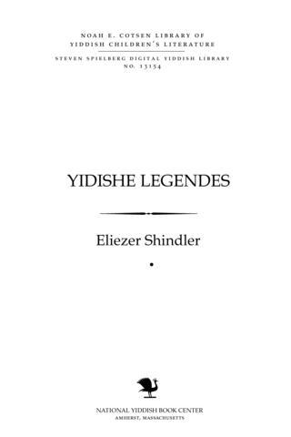 Thumbnail image for Yidishe legendes finfṭe zamlung