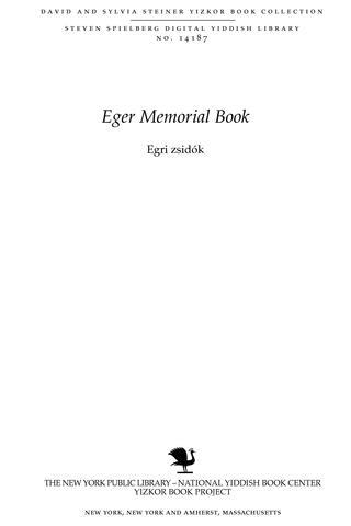 Thumbnail image for Egri zsidók