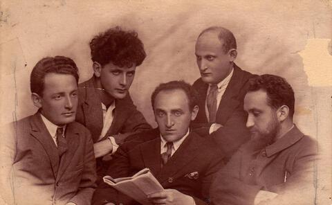 Yosef with fellow Yiddish writers