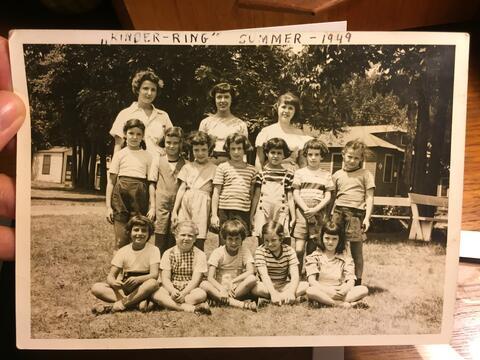 Irena Kinder-Ring Camp Photo, Summer 1949