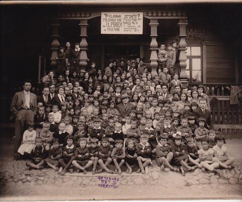 yosef and children during europe trip
