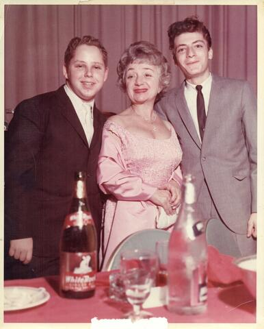 Rick Grossman Photograph - Rick Grossman at age 14 with Molly Picon and Bruce Adler