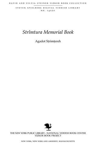 Thumbnail image for Agadot Sṭrimṭereh : sipurah shel ḳehilah Yehudit me-reshitah ṿe-ʻad aḥaritah