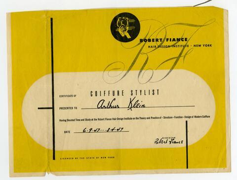 Robert Fiance Certificate