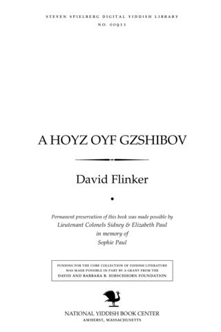 Thumbnail image for A hoyz oyf Gzshibov roman