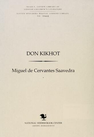 Thumbnail image for Don Quixote