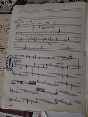 Handwritten and Annotated Sheet Music 1