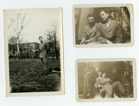 Three childhood photos