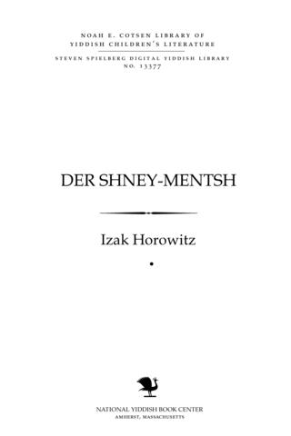 Thumbnail image for Der shney-menṭsh