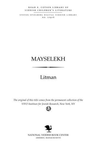 Thumbnail image for Mayselekh