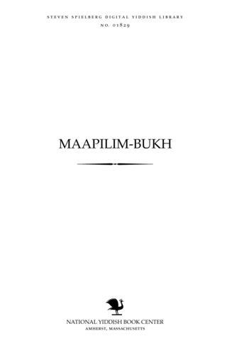 Thumbnail image for Maapilim-bukh