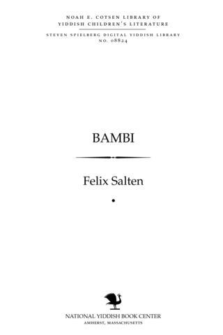 Thumbnail image for Bambi ṿald mayśele