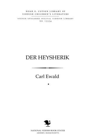 """Thumbnail image for Der heysheriḳ fun der serye """"mayśehlakh fun der naṭur"""""""