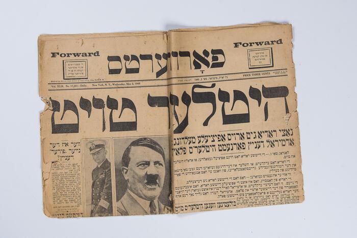 Hitler is Dead newspaper headline