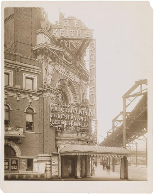 The marquee of B. F. Keith's Orpheum at Fulton Street and Rockwell Place, Brooklyn