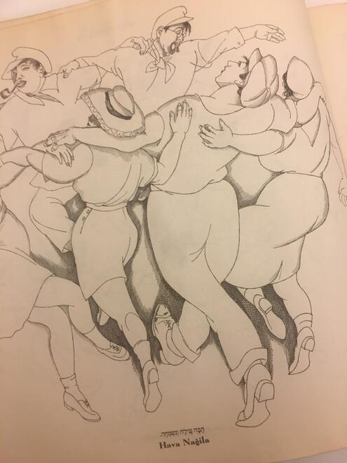 a group dancing the Hava Nagila