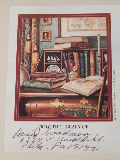 David Goodman Bookplate