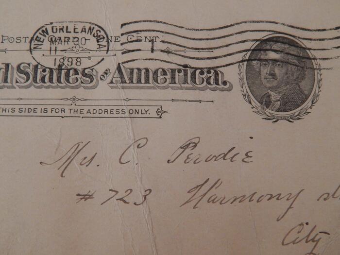 New Orleans 1898 postcard