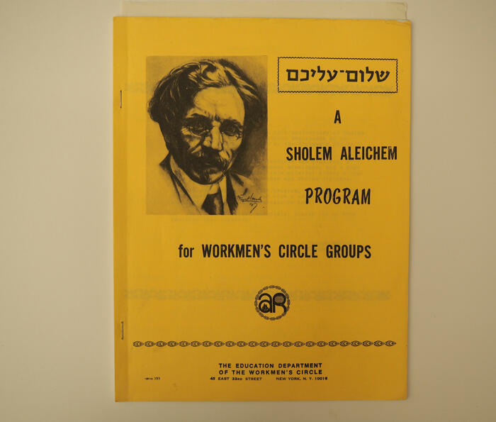 Workmen's Circle Guide to Sholem Aleichem on the 50th Anniversary of his passing