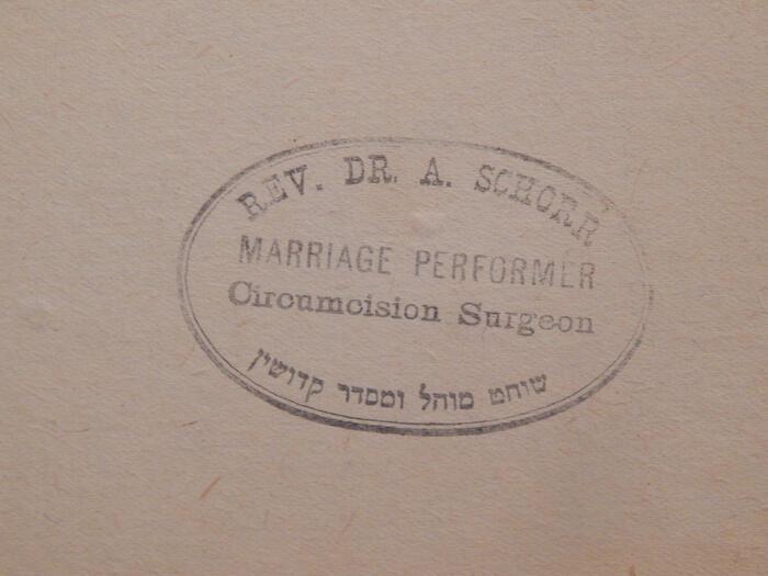 Schorr Marriage Circumcision