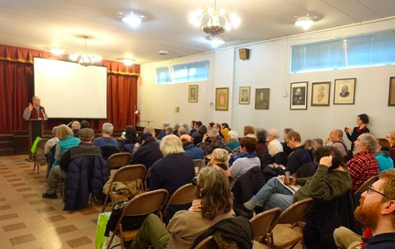 The audience at the BEYLE premiere at the Sholem Aleichem Cultural Center