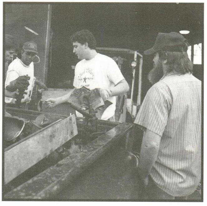 Joshua Shemper unloading a scrap customer at Ben Shemper and Sons, Inc., Hattiesburg