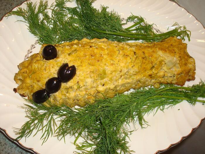 Smiling fish loaf.