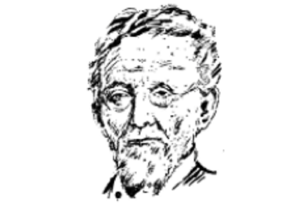 An illustration of the Yiddish writer Mendele Moykher-Sforim